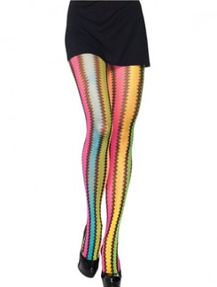 Leg Avenue Rainbow Zigzag Tights