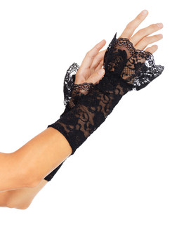 Leg Avenue Stretch Lace Gauntlet Arm Warmers