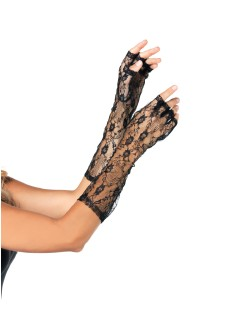Leg Avenue Elbow-Length Fingerless Lace Gloves