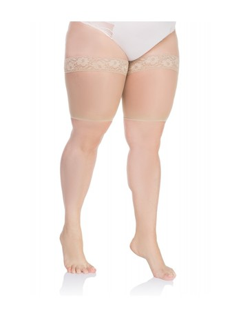 Lida stockings protector with laces 20DEN light beige