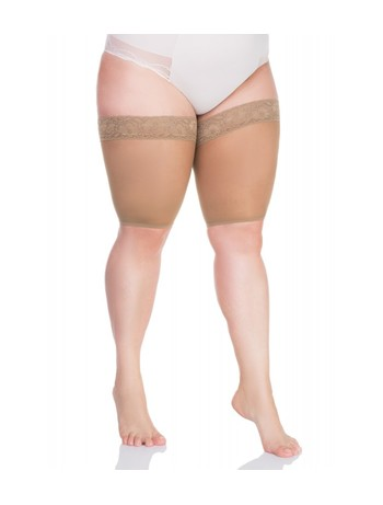 Lida stockings protector with laces 20DEN medium beige