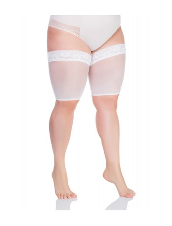 Lida stockings protector with laces 20DEN white