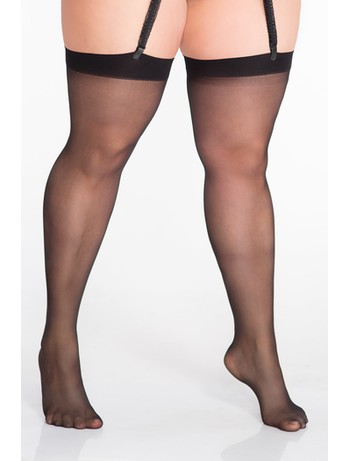 Lida stockings for suspender belt thigh 95cm black