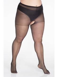 Lida Open Crotch Tights 140-170cm Hüftumfang