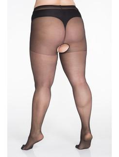 Lida Open Crotch Tights 140-170cm Hüftumfang