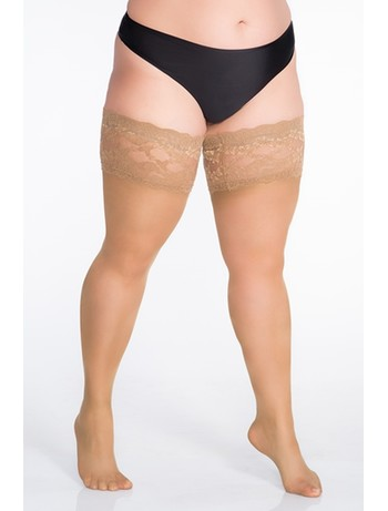 Lida stockings with lace 55-67 hips