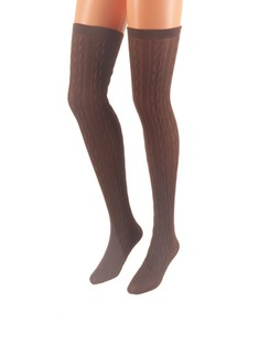 Mura Trecce Cotton Over the Knee Socks