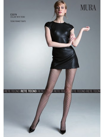 Mura rete tecno fishnet tights nero