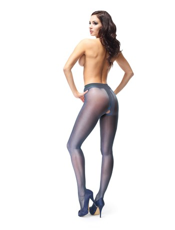 MissO Crotchless Tights dark blue