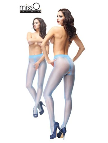 MissO Crotchless Tights light blue