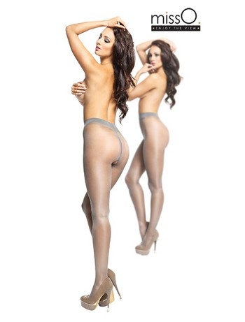 MissO Crotchless Tights gray