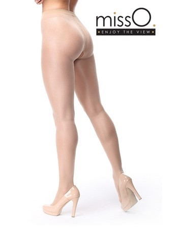 MissO Opaque Crotchless Tights beige