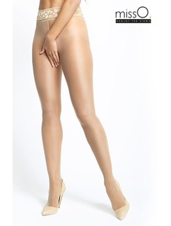 MissO Crotchless Tights with Lace Waistband