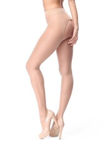 MissO shiny open crotch pantyhose