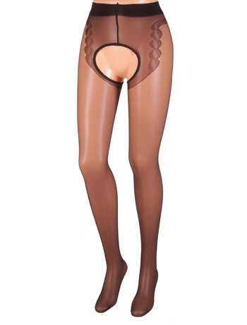 MissO  Enjoy The View Crotchless Seamed Tights black