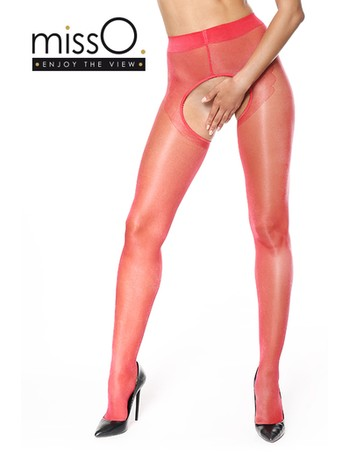 MissO  Enjoy The View Crotchless Seamed Tights red