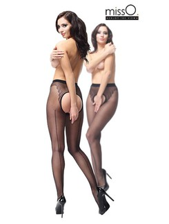 MissO Open Crotch Pantyhose with Backseam