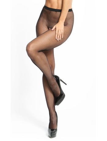 MissO Fishnet open crotch pantyhose black