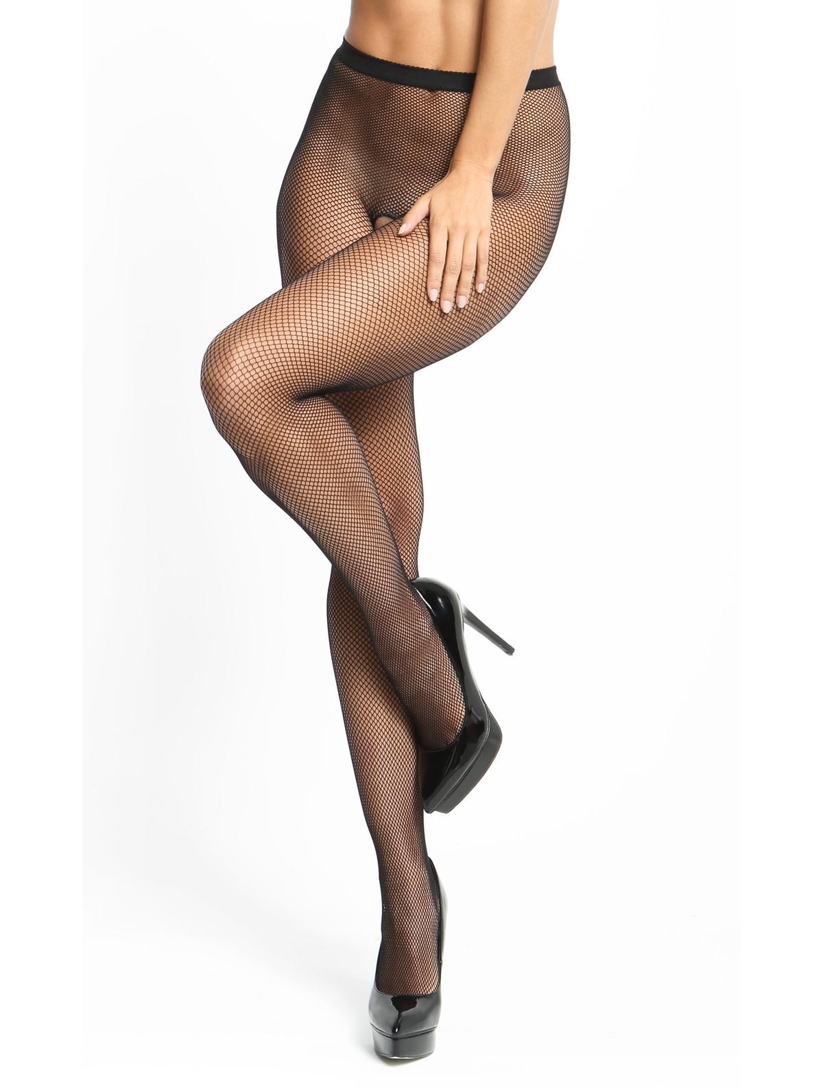 f35c3af71c333 MissO Fishnet open crotch pantyhose black ...