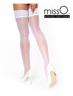 MissO Silky Hold-Ups with Lace Tops
