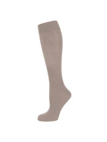 Nur Die Fine Cotton Knee High Socks beige grey