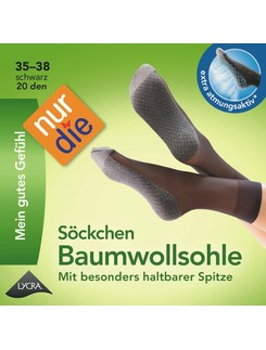Nur Die Cotton Soled Socks 20DEN