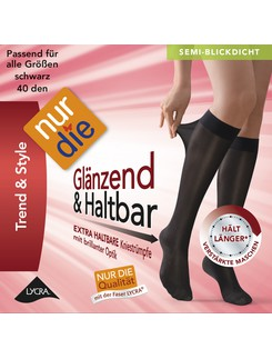 Nur Die Knie Gl�nzend & Haltbar 40 Knee-Highs