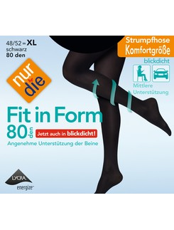 Nur Die Fit in Form 80 opaque tights queensize