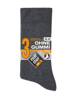 Nur Der Ohne Gummi  Three Pack Soft Top Socks for Men