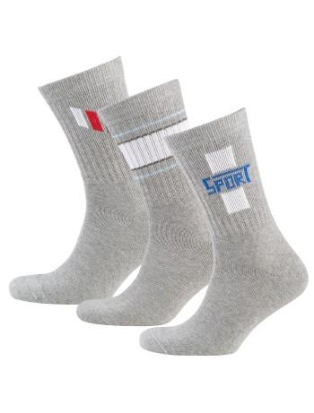 Nur Der Sport Socks Three Pack grey patterned