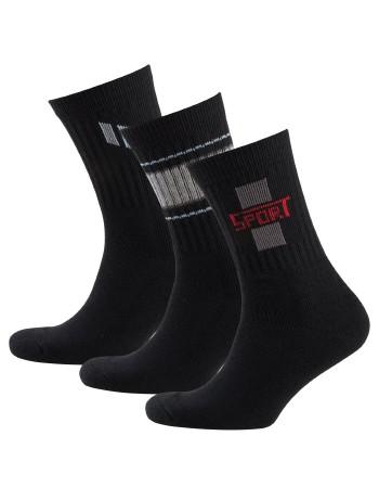 Nur Der Sport Socks Three Pack black patterned