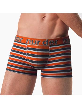 Nur Der Cotton Stretch Boxer Briefs orange-grey striped
