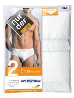 Nur Der Men's Classic Slip Double Pack 100% Cotton