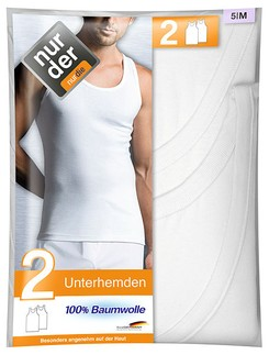 Nur Der Men's Undershirt Double Pack 100% Cotton