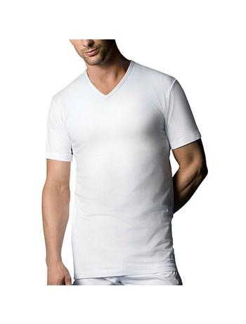Nur Der T-Shirt V-Neck Double Pack 100% Cotton white