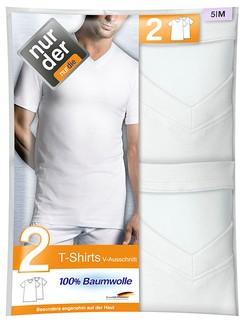 Nur Der Men's T-Shirt V-Neck Double Pack 100% Cotton