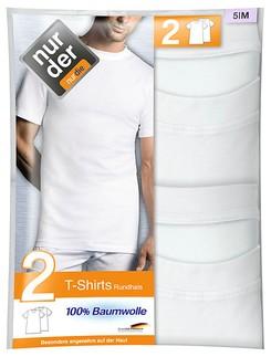 Nur Der Men's T-Shirt Roundneck Double Pack 100% Cotton