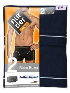 Nur Der Men's Retro Boxer Double Pack