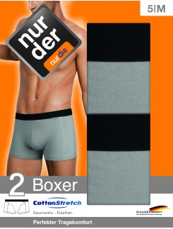 Nur Der Cotton Stretch Doublepack Boxer Briefs