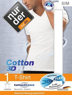 Nur Der T-Shirt 3D-Flex V-Neck