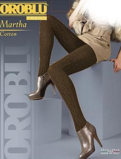 Oroblu Martha Melange Diamond and Rib Knit patterned Tights