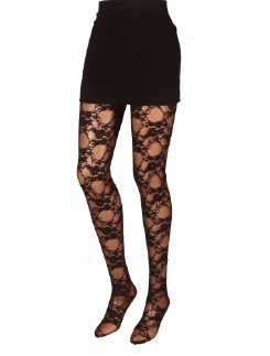 Platino Calais Fantasia Lace Tights