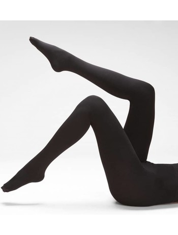 Silky warm & cosy thermal tights black