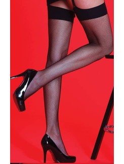 Silky Scarlet fishnet stocking
