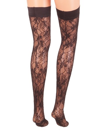 Trasparenze Marble Lace Hold-ups black