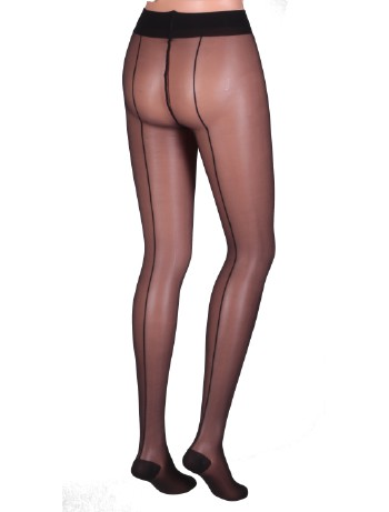 Trasparenze Jessy All the Way Back-Seamed Tights black