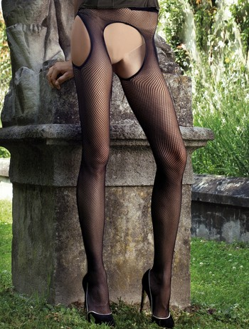 Transparent Abbie Fishnet Tights black